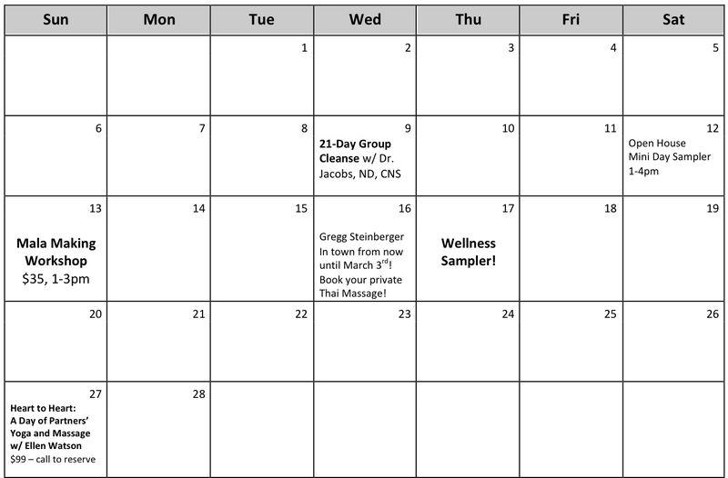 Feb calendar sin kirtan